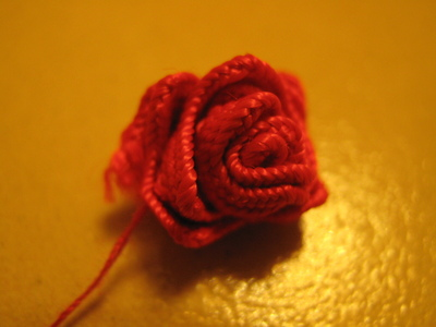 How to make a lace hair bow. Lovely Rose And Lace Hairpin - Step 8