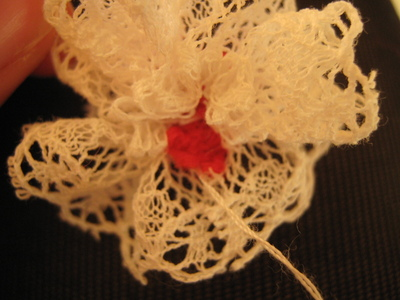 How to make a lace hair bow. Lovely Rose And Lace Hairpin - Step 12
