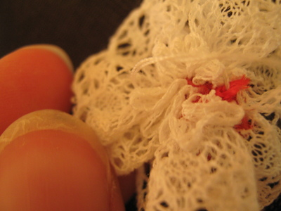 How to make a lace hair bow. Lovely Rose And Lace Hairpin - Step 13