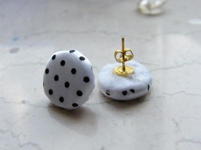 How to make a stud earring. Polka Dot Earrings - Step 3