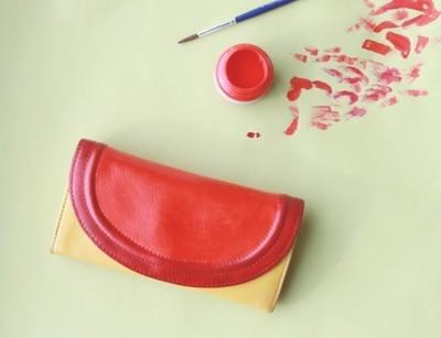 How to make a wallet. Color Block Wallet Diy - Step 4