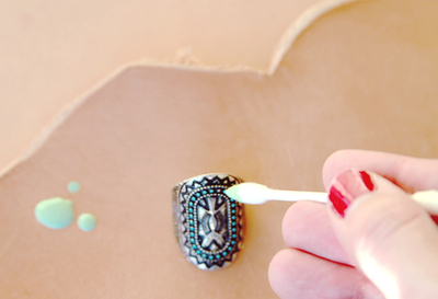 How to make a metal ring. Southwestern Diy Ring Redo - Step 2