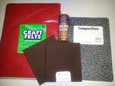 How to make a felt book cover. Personalize Notebook Journals - Step 1