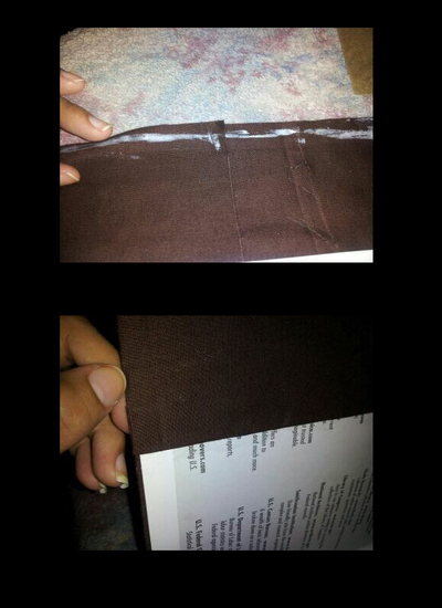 How to make a felt book cover. Personalize Notebook Journals - Step 4