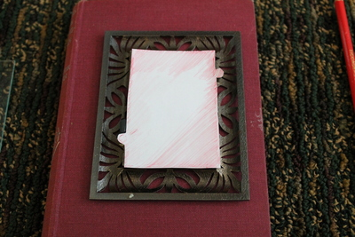 How to make a recycled photo frame. Book Into Photo Frame  - Step 2