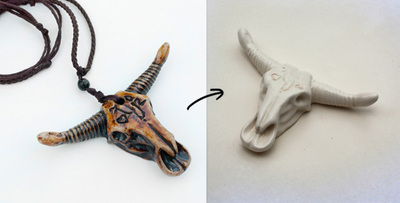 How to make a skull pendant. Wildfox Couture Inspired: Diy Bull Skull Necklace - Step 2