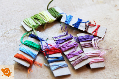 How to organize a thing. Organizing Embroidery Thread - Step 2