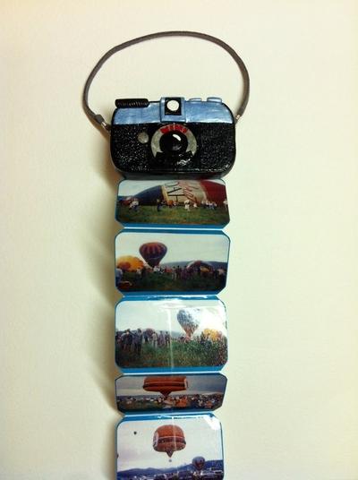 How to make a recycled book. Mini Photo Album Tin - Step 9