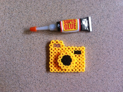 How to make a pegboard bead pendant. Hama Beads Camera - Step 3