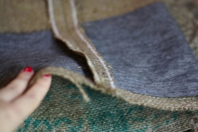 How to sew a fabric basket. Burlap Container - Step 3