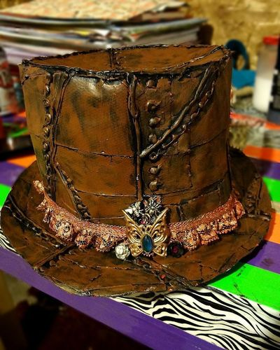 How to make a top hat. Diy Duct Tape Steampunk Top Hat - Step 15
