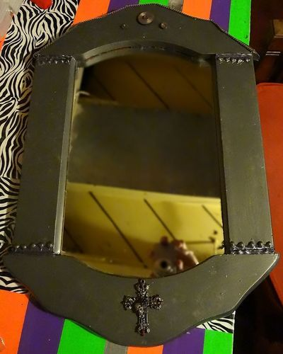 How to make a wall mirror. Industrial/Steampunk Mirror - Step 10