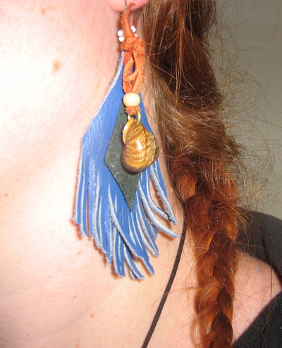 How to make a feather earring. Nature's Earrings - Step 13
