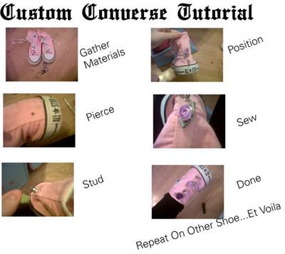 How to make a shoe. Diy: Custom Converse - Step 1