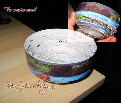 How to make a paper bowl. How To Make Paper Bowls - Step 4