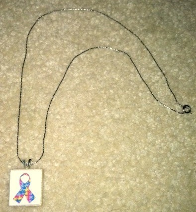 How to make a scrabble necklace. Autism Awareness Scrabble Tile Necklace - Step 7