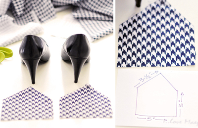 How to make a pair of fabric covered shoes. Houndstooth Shoes  - Step 1