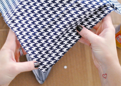 How to make a pair of fabric covered shoes. Houndstooth Shoes  - Step 6
