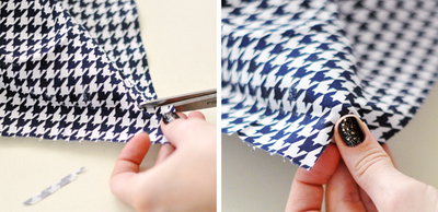 How to make a pair of fabric covered shoes. Houndstooth Shoes  - Step 8
