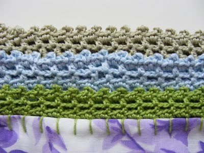 How to stitch a knit or crochet cushion. Crochet Pillowcase Edge - Step 2