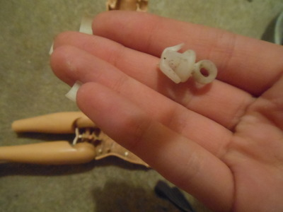How to make a toy charm. Zombie/Monster Barbie Keychain - Step 6