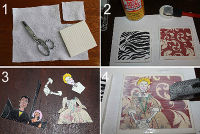 How to make a coaster. Collage Coasters - Step 1