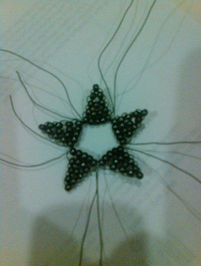 How to bead a beaded shape. Beaded Star - Step 3