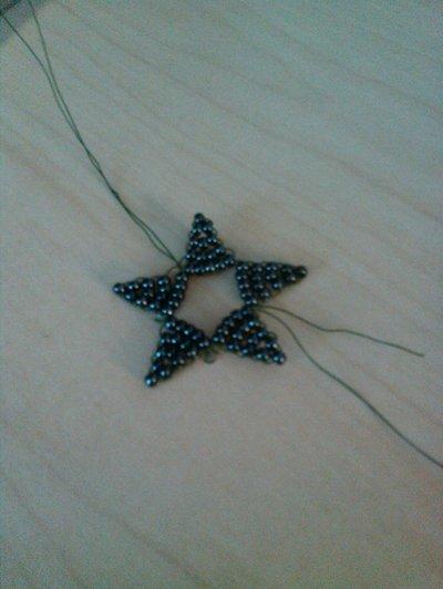 How to bead a beaded shape. Beaded Star - Step 4