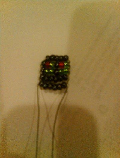 How to bead a beaded shape. Beaded Star - Step 6