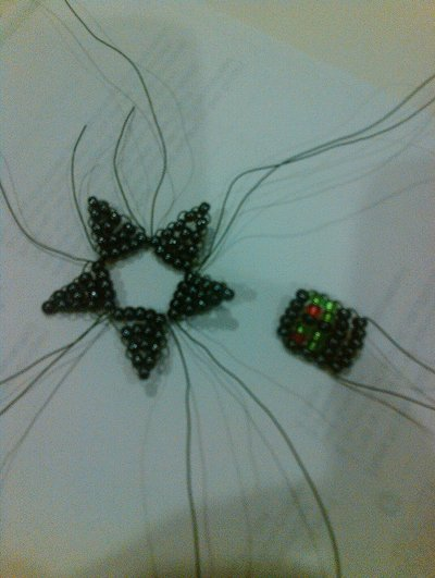 How to bead a beaded shape. Beaded Star - Step 7