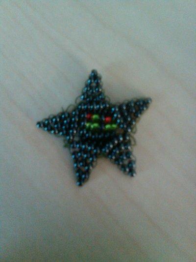 How to bead a beaded shape. Beaded Star - Step 12