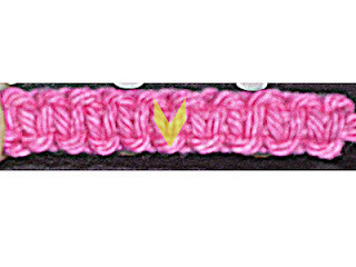How to stitch a knit or crochet bracelet. Diy Yarn Bracelet - Step 9