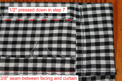 How to make a curtain/blinds. Cafe Curtains - Step 14