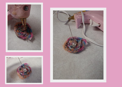 How to make a bouquet. Ribbon Bridal Bouquet - Step 7