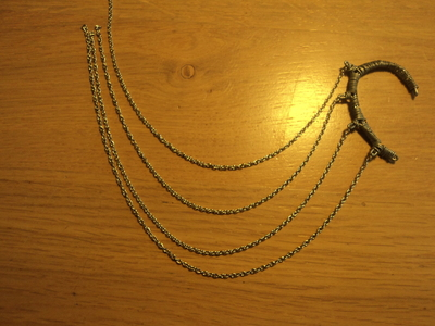 How to make a chain earring. Chained Ear Cuff - Step 11