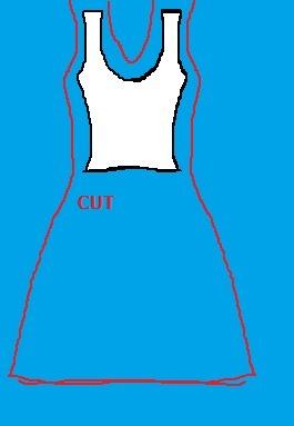 How to sew a t-shirt dress. Easy Shirt Dress - Step 1
