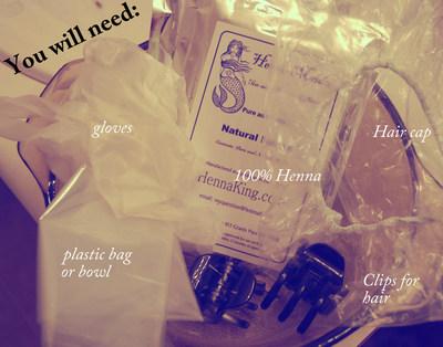 How to make a hair & beauty project. Henna Hair Tutorial  - Step 2