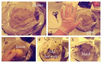 How to make a hair & beauty project. Henna Hair Tutorial  - Step 3