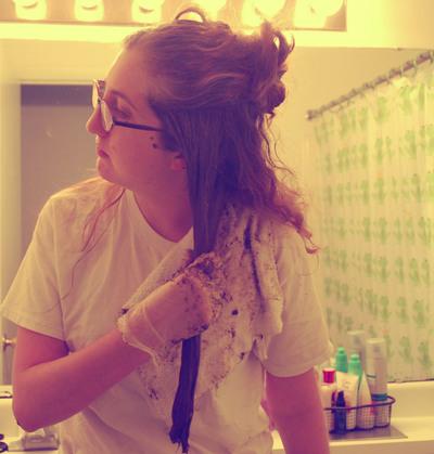 How to make a hair & beauty project. Henna Hair Tutorial  - Step 6