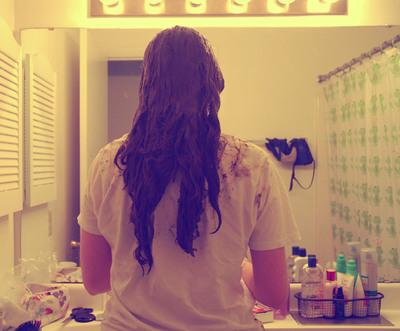 How to make a hair & beauty project. Henna Hair Tutorial  - Step 8