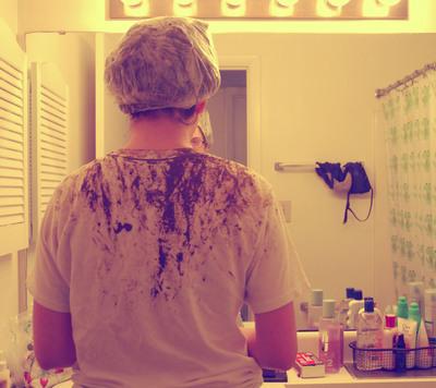 How to make a hair & beauty project. Henna Hair Tutorial  - Step 9