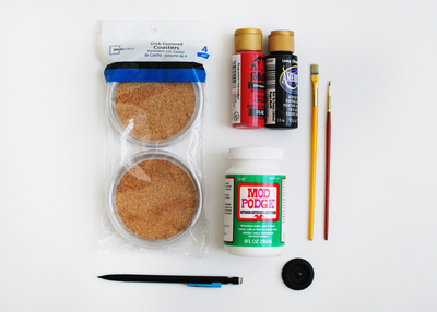 How to make a cork coaster. Cork Record Coasters - Step 1