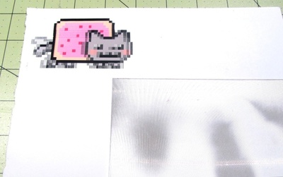 How to make a plastic necklace. Animated GIF Nyan Cat Necklace - Step 1