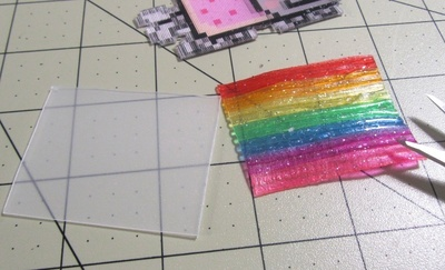 How to make a plastic necklace. Animated GIF Nyan Cat Necklace - Step 13