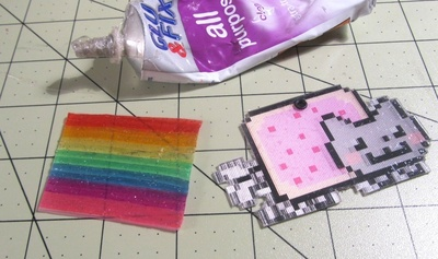 How to make a plastic necklace. Animated GIF Nyan Cat Necklace - Step 14
