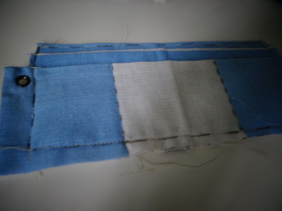 How to make a recycled pouch. Toms Flag Into Wallet - Step 8