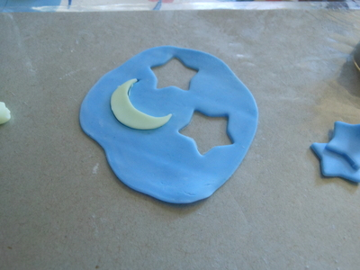 How to make a sun catcher. Polymer Clay Stained Glass - Step 3