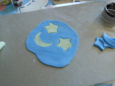 How to make a sun catcher. Polymer Clay Stained Glass - Step 5