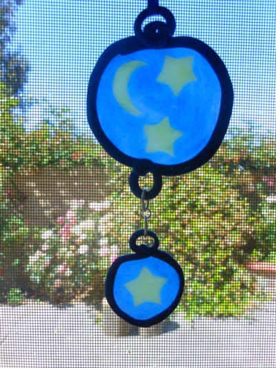 How to make a sun catcher. Polymer Clay Stained Glass - Step 8