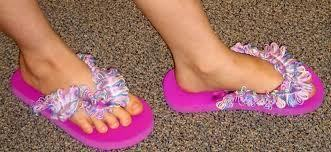 How to make a sandal / flip flop. Frilly Flops!:) - Step 5